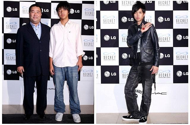 棒球名人赵士强 (左),时尚达人小鬼出席派对.