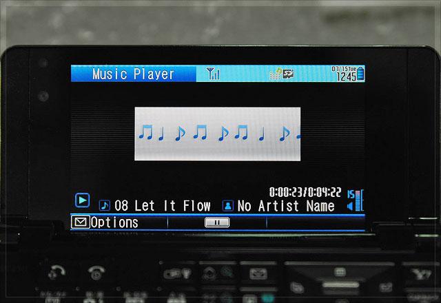 非常简单的播放面板,上面的音谱表会一直跑,不过它有些 id3 tag 未